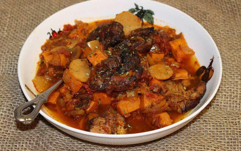 Paleo Sweet Potato Braised Chicken Stew Recipe