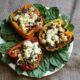 Fresh Herbs And Turkey Stuffed Peppers Recipe