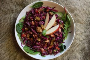 Red Cabbage Salad And Maple Dressing Recipe